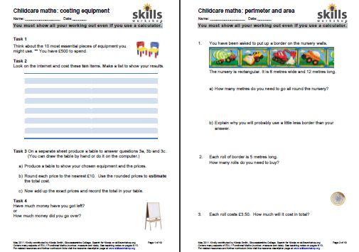 Functional Maths for childcare | Skills Workshop