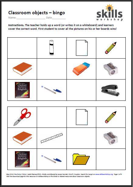 Esol worksheets uk
