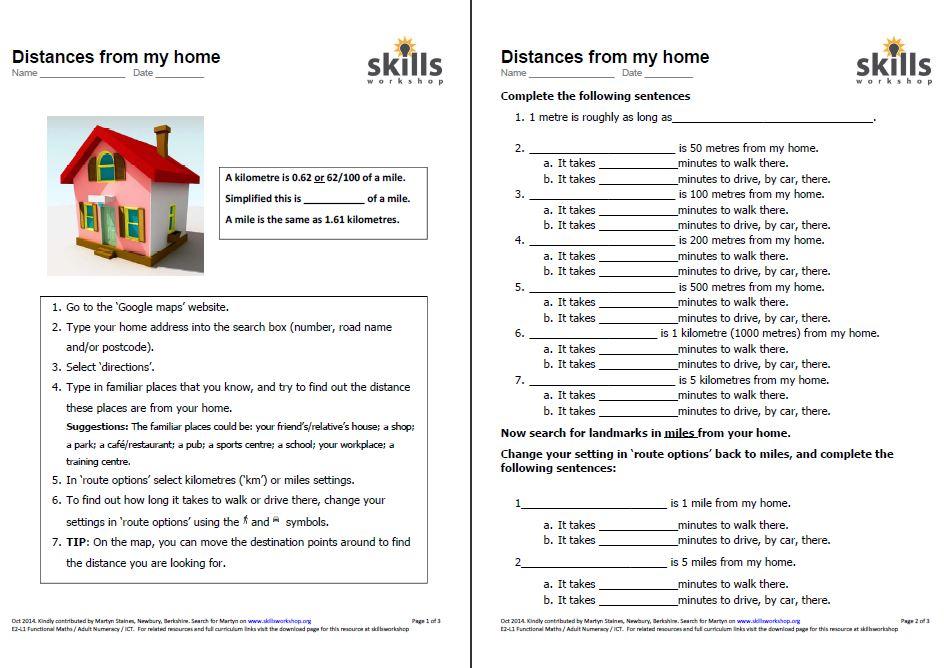 distances from my home skillsworkshop. Black Bedroom Furniture Sets. Home Design Ideas