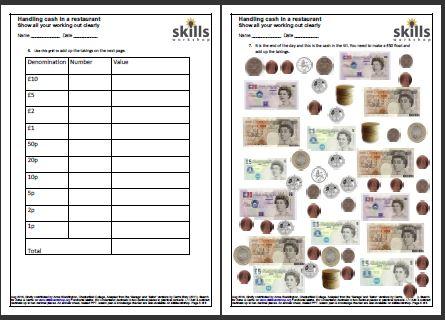 Handling Cash In A Restaurant Skills Workshop