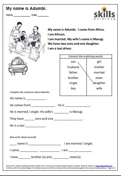 italian worksheets for beginners