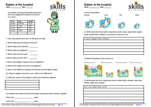 Health Social Care Early Years on Functional Skills L2 Maths Worksheets