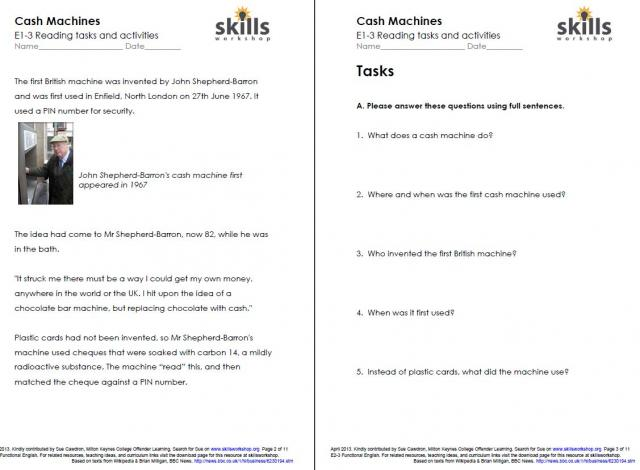 functional text worksheets