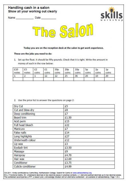 Worksheet Salon Budget Worksheet mss1l1 1 skills workshop resource type worksheet or assignment