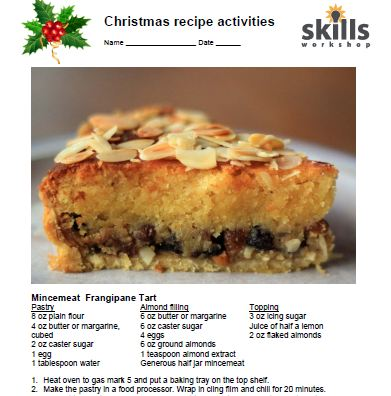 Christmas recipe activities skills workshop forumfinder Choice Image