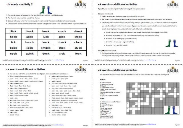 Worksheet Phonics Worksheets For Adults rwe1 2 skills workshop based on a humorous story this set of multi sensory phonics activities includes page detailed tutor notes various sets word cards for