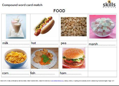 Compound Word Card Match Skills Workshop