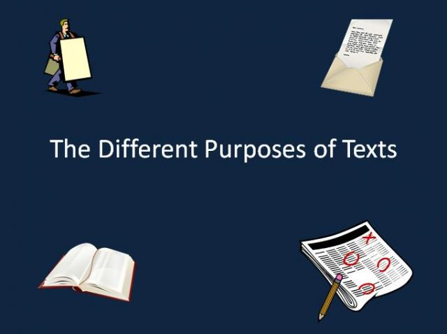identify the purposes of different types History of the circus lesson : obj 3 grade : 612 (a) identify the purposes of different types of texts such as to inform, influence, express, or entertain.