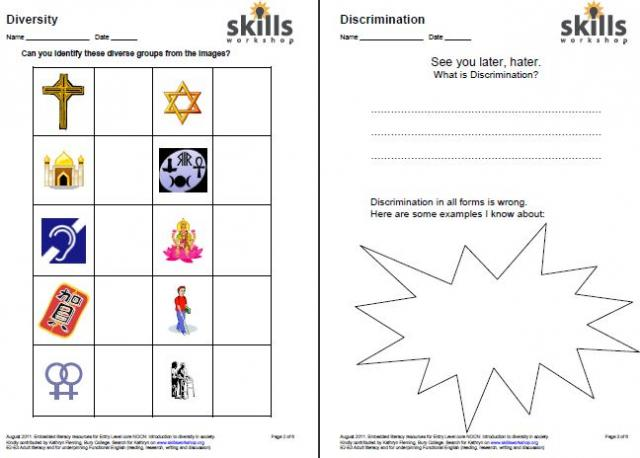 Printables Diversity Worksheets diversity worksheets hypeelite equality and skills workshop imperialdesignstudio