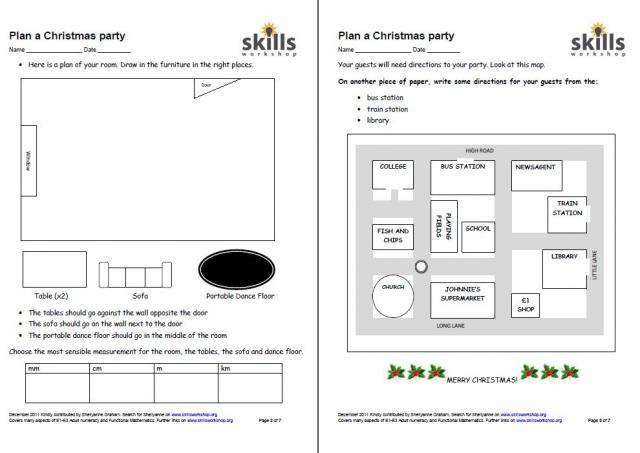 plan a christmas party entry functional maths tasks skills workshop. Black Bedroom Furniture Sets. Home Design Ideas