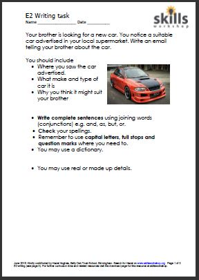 Motor Vehicle Bill Of Sale >> Writing an email - I saw a car for sale | Skills Workshop