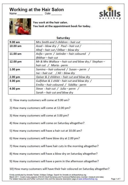 math worksheet : mss1 e3 3  skills workshop : Level 3 Maths Worksheets