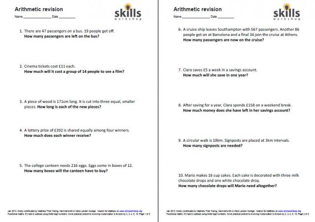 math worksheet : n1 e3 9  skills workshop : Subtraction Worksheets Word Problems