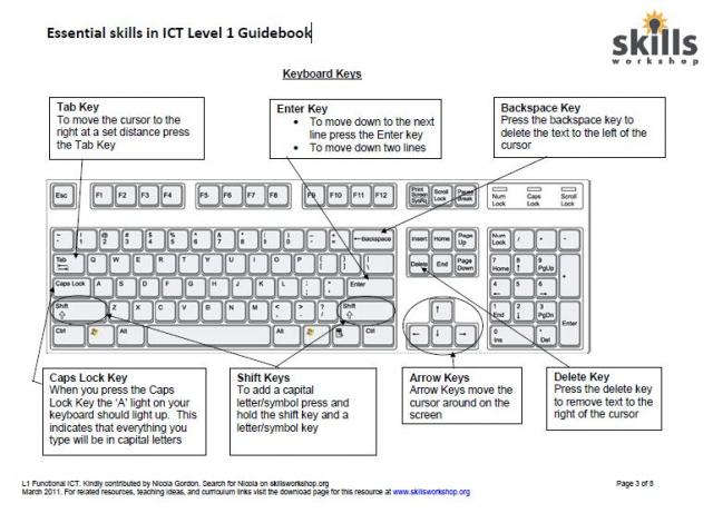 Printables Basic Computer Skills Worksheets level 1 and 2 clait ecdl skills workshop a clear guidebook to computers mouse keyboard using microsoft word ideal for e3 l1 functional ict european computer driving licence