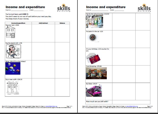 Mss1l11 on Functional Skills L2 Maths Worksheets