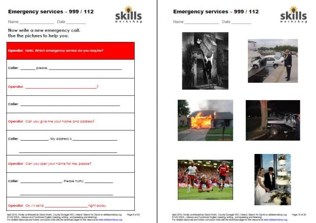 Emergency Services Functional English and ESOL activities ...