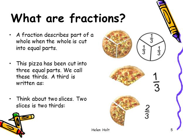 Powerpoint presentation fractions.