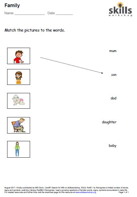 ... members family roles worksheets spanish family members worksheet