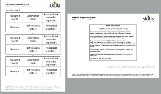 functional literacy activities