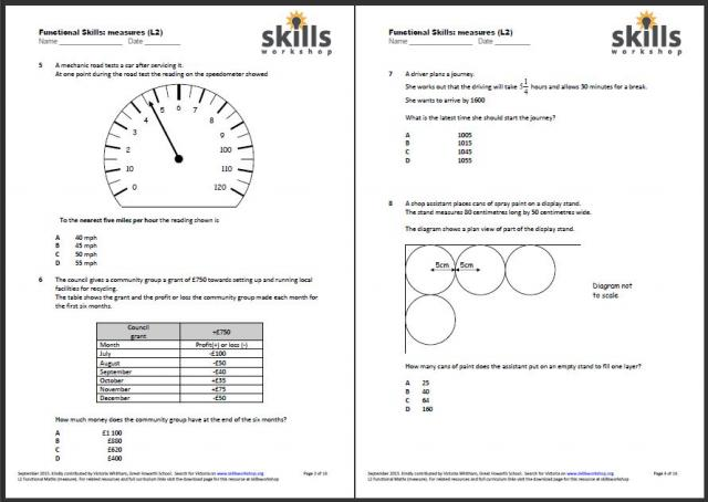math worksheet : functional maths  measures shape money  skills workshop : Maths Level 1 Worksheets