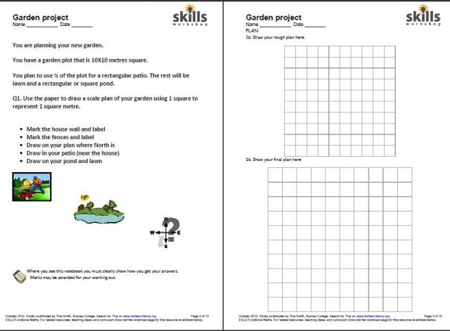 Garden Design Ks2 functional maths garden project | skills workshop
