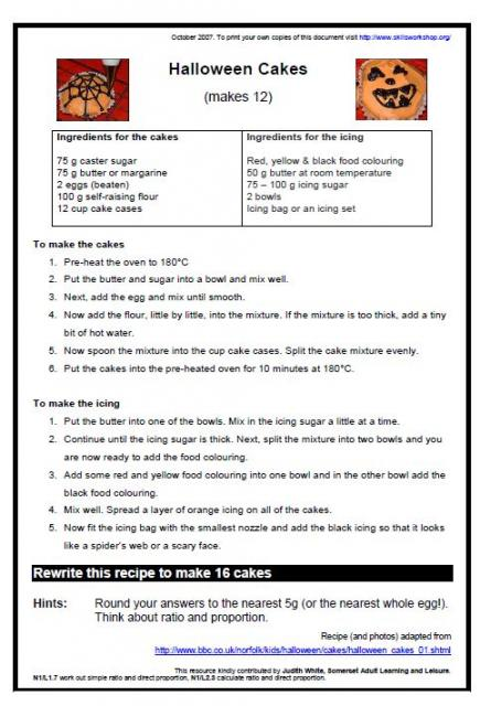 Ratio And Proportion Recipe Worksheet Livinghealthybulletin