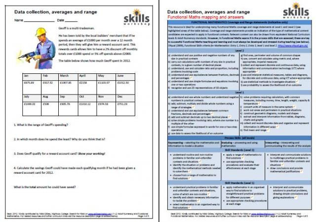 Printables Vocational Skills Worksheets construction carpentry plumbing skills workshop a set of differentiated tasks for students i used the e3 l1 task with my entry to group and then more challenging l1