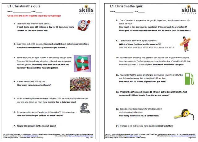 Christmas : Skills Workshop