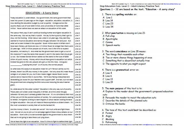 math worksheet : contextual resources  skills workshop : Multiple Choice Reading Comprehension Worksheets