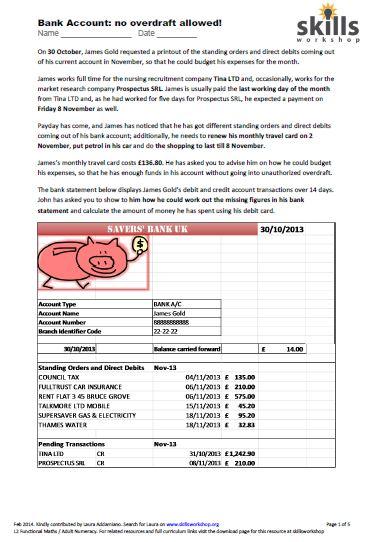 Worksheets Managing Money Worksheet collection of money management worksheet bloggakuten