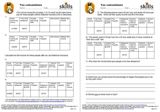 Printables Employment Skills Worksheets employment skills public services workshop challenging and very functional worksheets where learner must complete the missing information calculate take home pay etc for variou