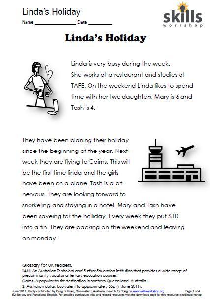 Holiday Reading Comprehension Worksheets - Delibertad