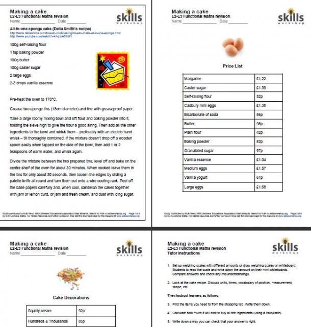 Recipe Conversion Worksheets Worksheets for all | Download and ...