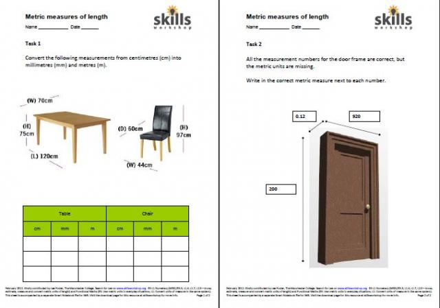Metric conversions - length, weight and capacity | Skills Workshop