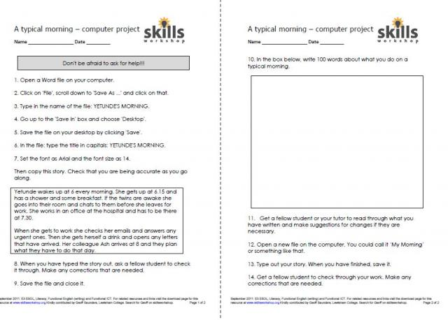 ICT Resources | Skills Workshop