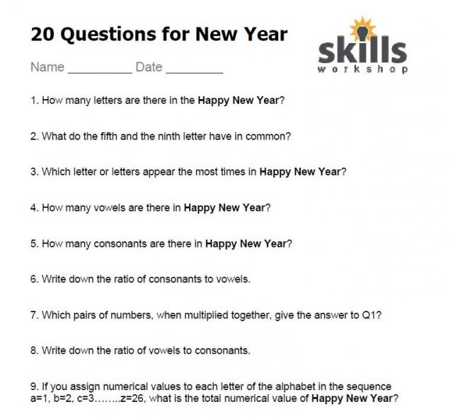20 questions for new year skills workshop publicscrutiny Choice Image