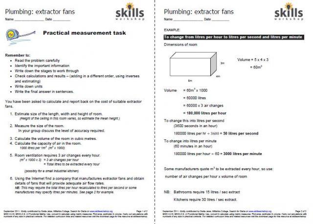math worksheet : construction carpentry plumbing  skills workshop : Carpentry Math Worksheets