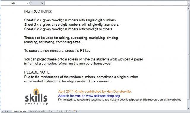 Numeracy Resources | Skills Workshop