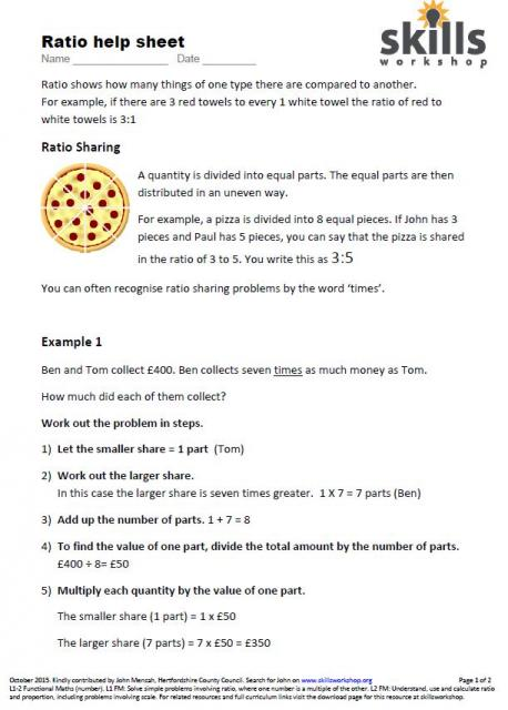 Identifying and writing proportions homework help