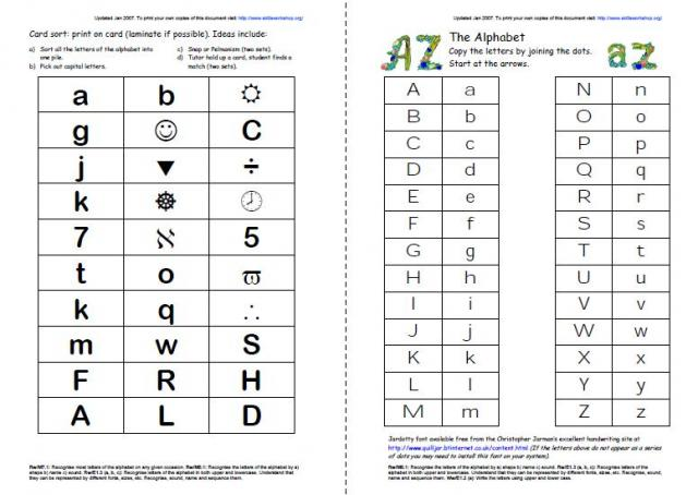 Lowercase Letter Matching Worksheets - 1000 ideas about letter ...