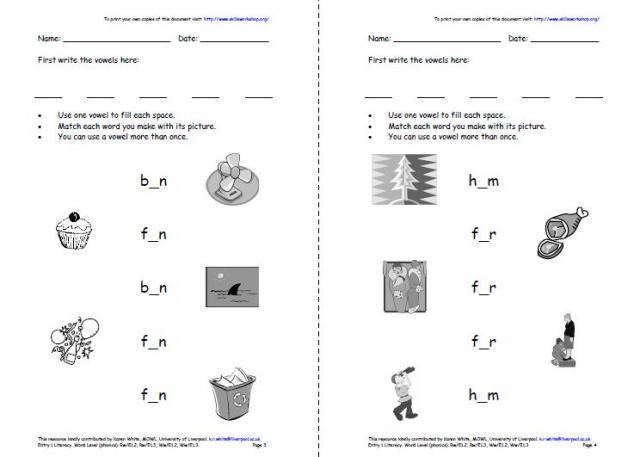 Free Worksheets » Medial Vowel Sounds Worksheets - Free Printable ...