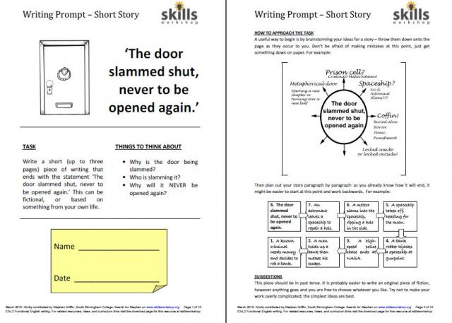short story writing assignment Informal writing assignments: writing to short, quick summaries of a structure building on story techniques whereby the student details what is happening/has.