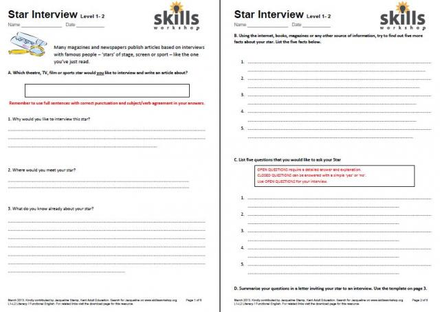 Printables Employment Skills Worksheets functional skills english workshop resource type worksheet or assignment writing frame