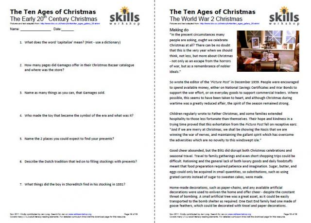 Printables Reading Comprehension Vocabulary Worksheets rtl2 1 skills workshop beautiful set of l1 2 reading comprehension exercises includes medieval christmas victorian post war etc the main focus is reading