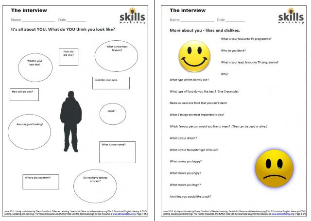 Esl+Speaking+Exercises Resource type: Listening and/or speaking ...