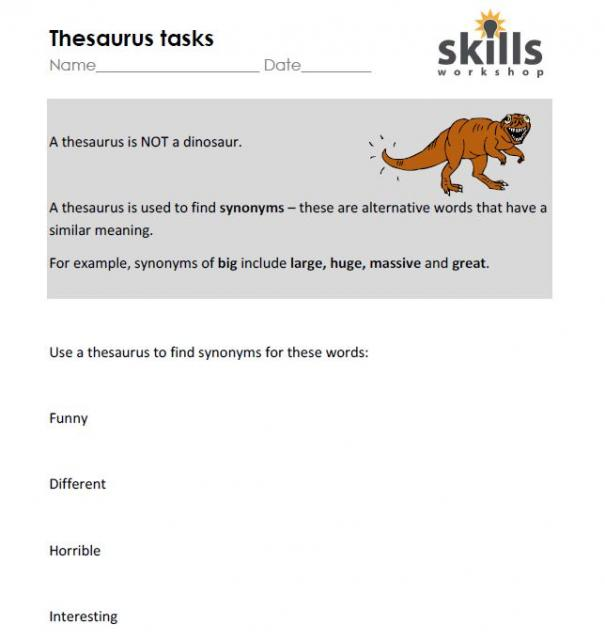 A Thesaurus is NOT a Dinosaur