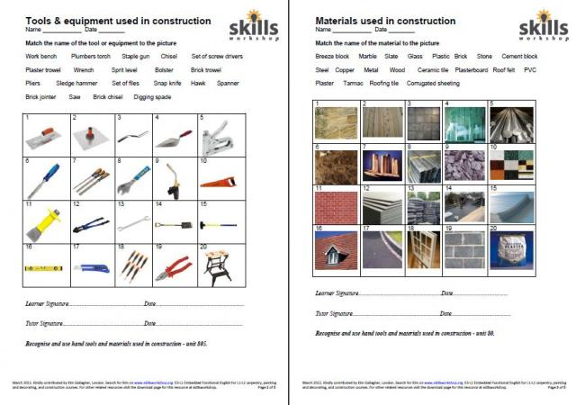 Construction Carpentry Plumbing : Skills Workshop