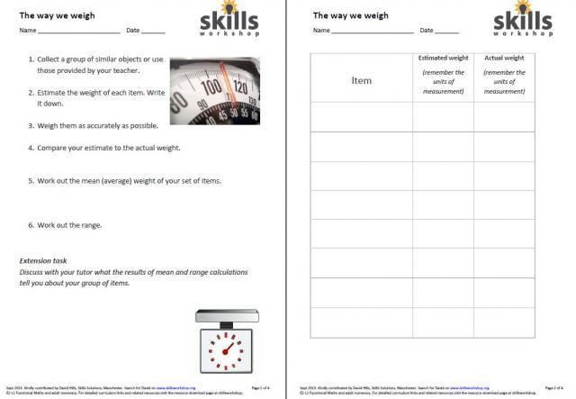 functional maths  measures shape money  skills workshop level e e l functional skills maths