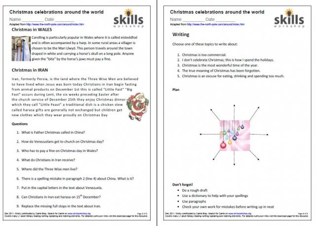 Free Worksheets christmas reading comprehension worksheet – Christmas Comprehension Worksheets
