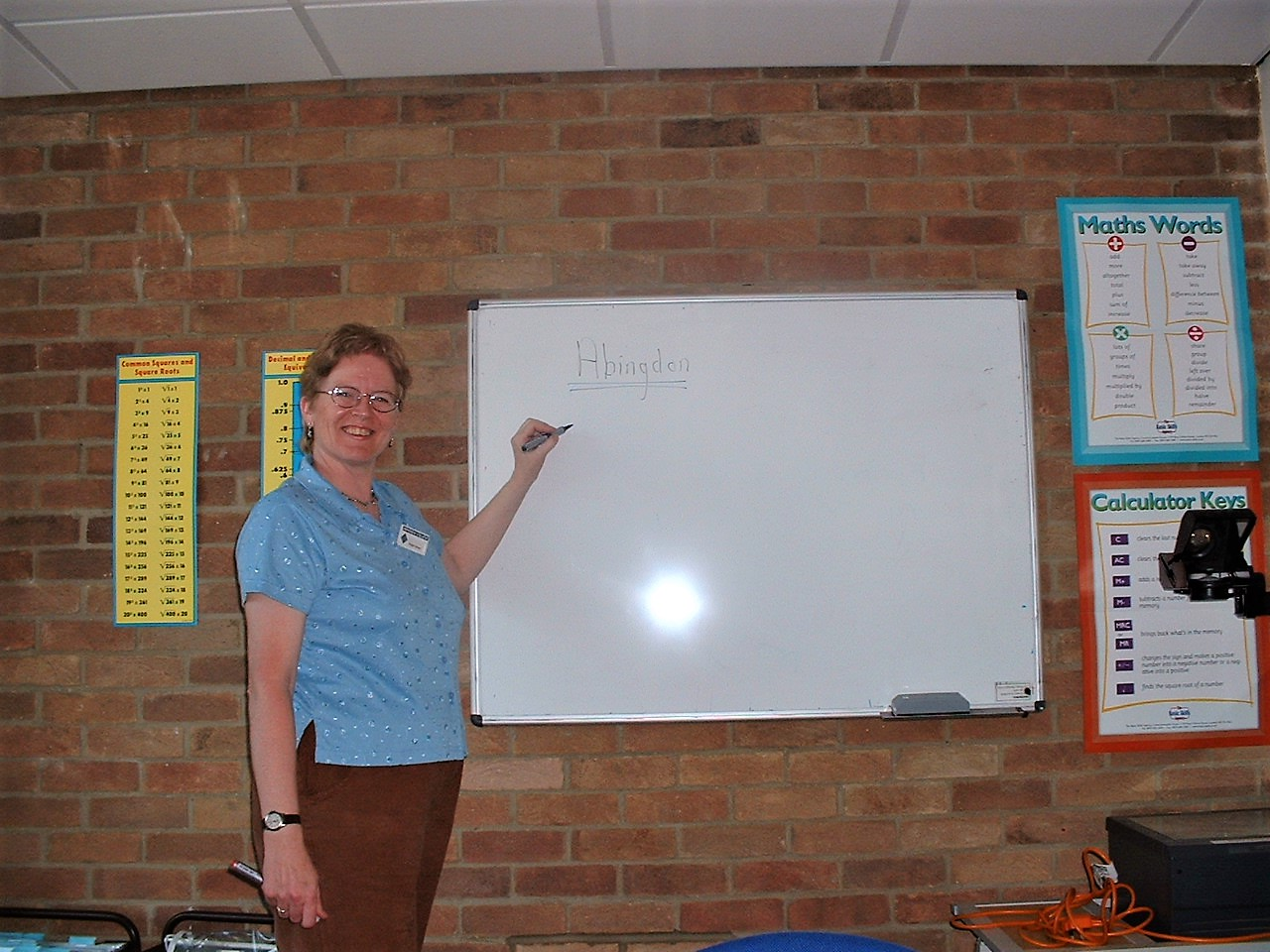 Maggie teaching in 2000